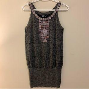 Silver Sequin Tank Top/Dress